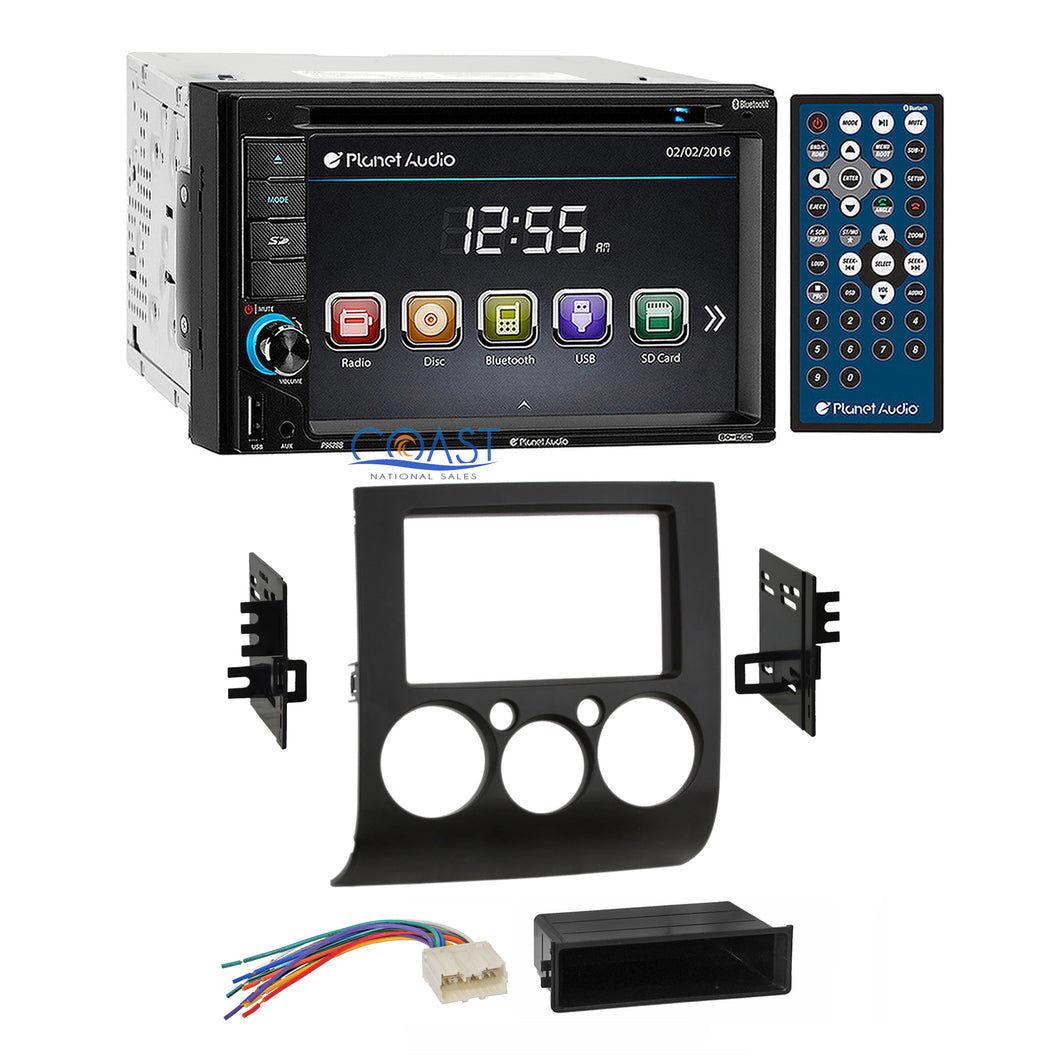 Planet Audio DVD Bluetooth Stereo Dash Kit Harness for 04-12 Mitsubishi Galant
