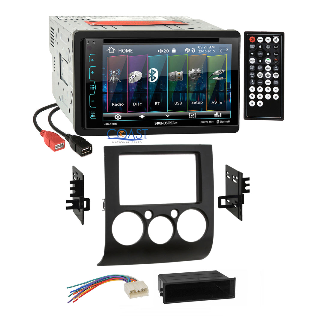 Soundstream DVD USB Bluetooth Stereo Dash Kit Harness for 04+ Mitsubishi Galant