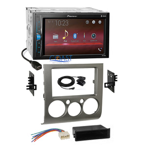 Pioneer USB Multimedia Silver Stereo Dash Kit Harness for 04+ Mitsubishi Galant