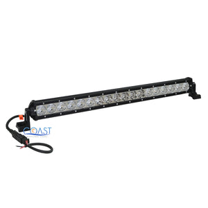 "Slim Cree LED 20"" 90W Offroad 4x4 Truck Marine Flood Spot Light Bar Lamp -Black"