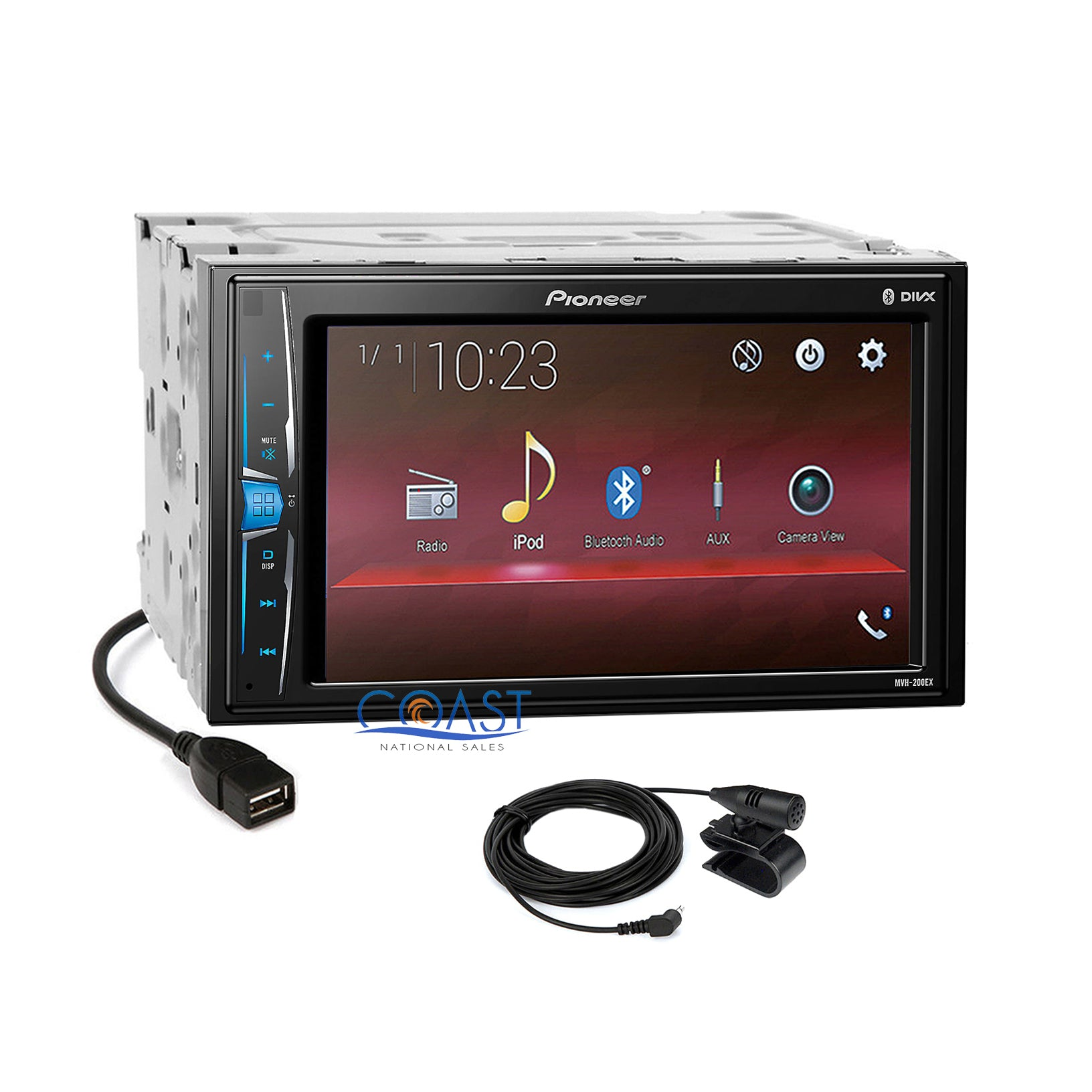 Pioneer USB Camera Input Stereo Dash Kit Harness for 07+ Toyota