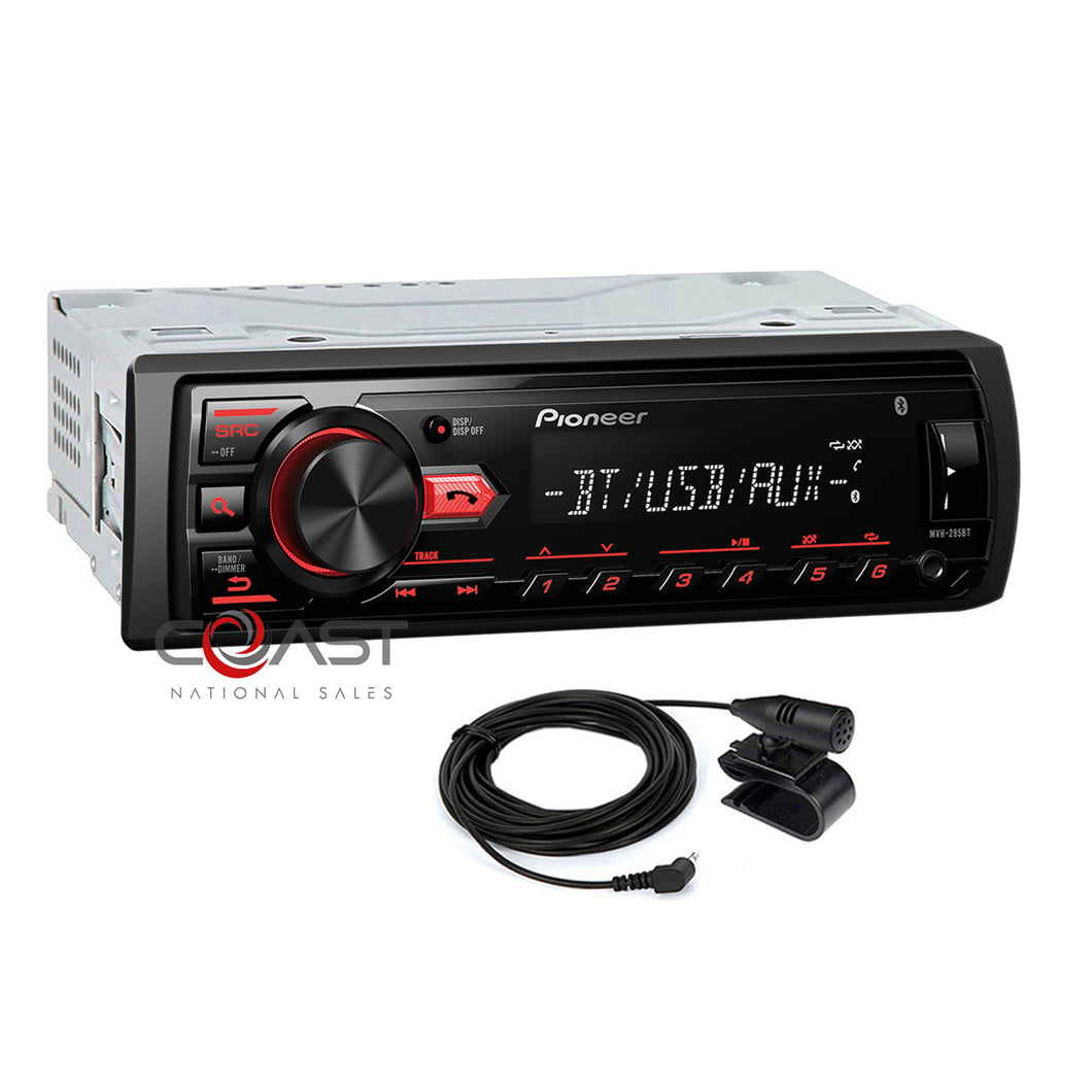 Pioneer Car Radio Bluetooth Single Din Dash Kit Harness for 01-06 Mazda Tribute