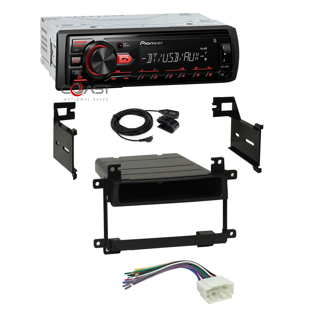 Pioneer Radio Bluetooth Dash Kit Harness for 2003-06 Suzuki Aerio Grand Vitara