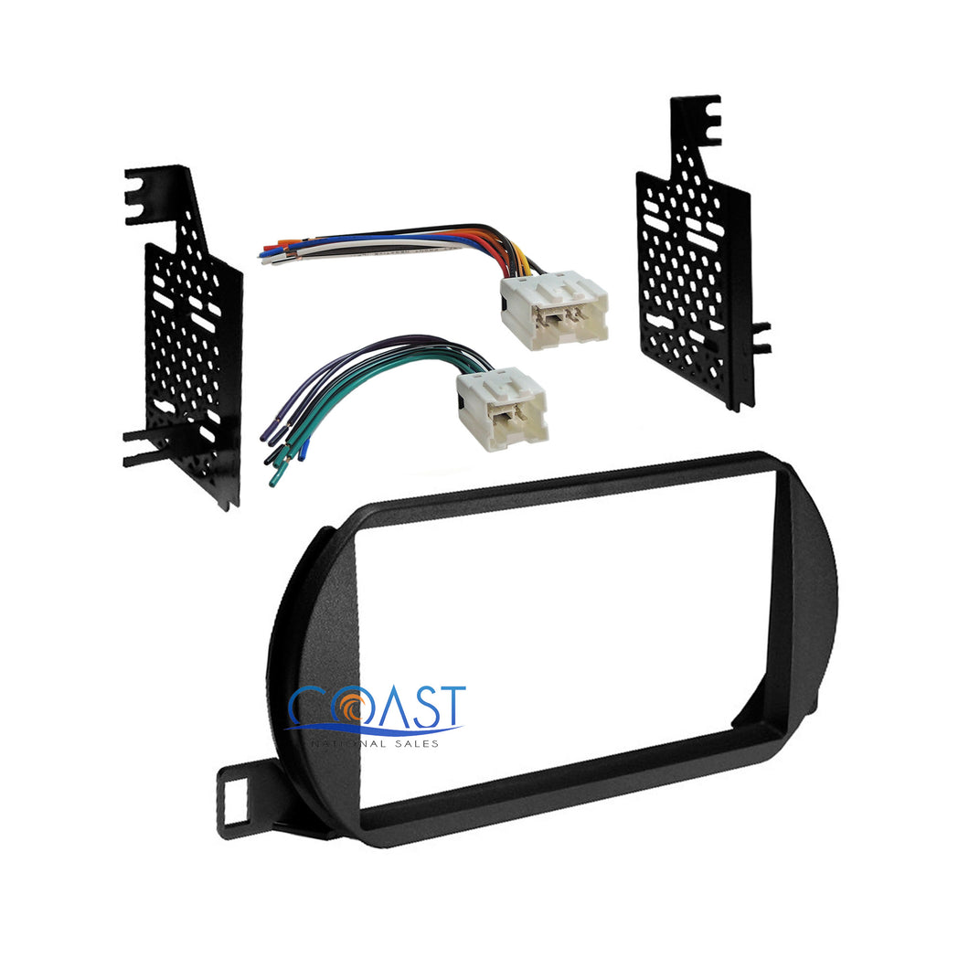 Car Radio Stereo Double Din Dash Kit Wire Harness for Nissan Altima 2002-2004