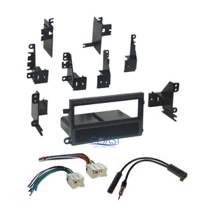 Single Din Car Radio Stereo Dash Kit Bezel Wiring Harness for 1998-2004 Nissan