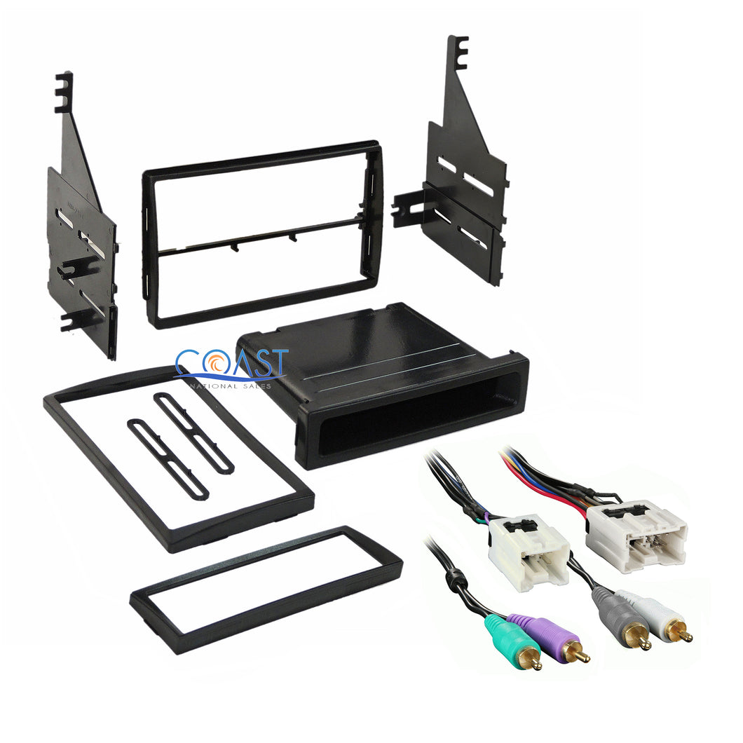 Car Radio Stereo Single Double DIN Dash Kit Harness for 2005-2006 Nissan Altima