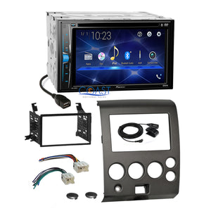 Pioneer 2018 DVD Bluetooth Stereo Dash Kit Harness for 04+ Nissan Armada Titan