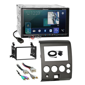 Pioneer DVD USB GPS Ready Stereo Dash Kit Amp Harness for Nissan Armada Titan