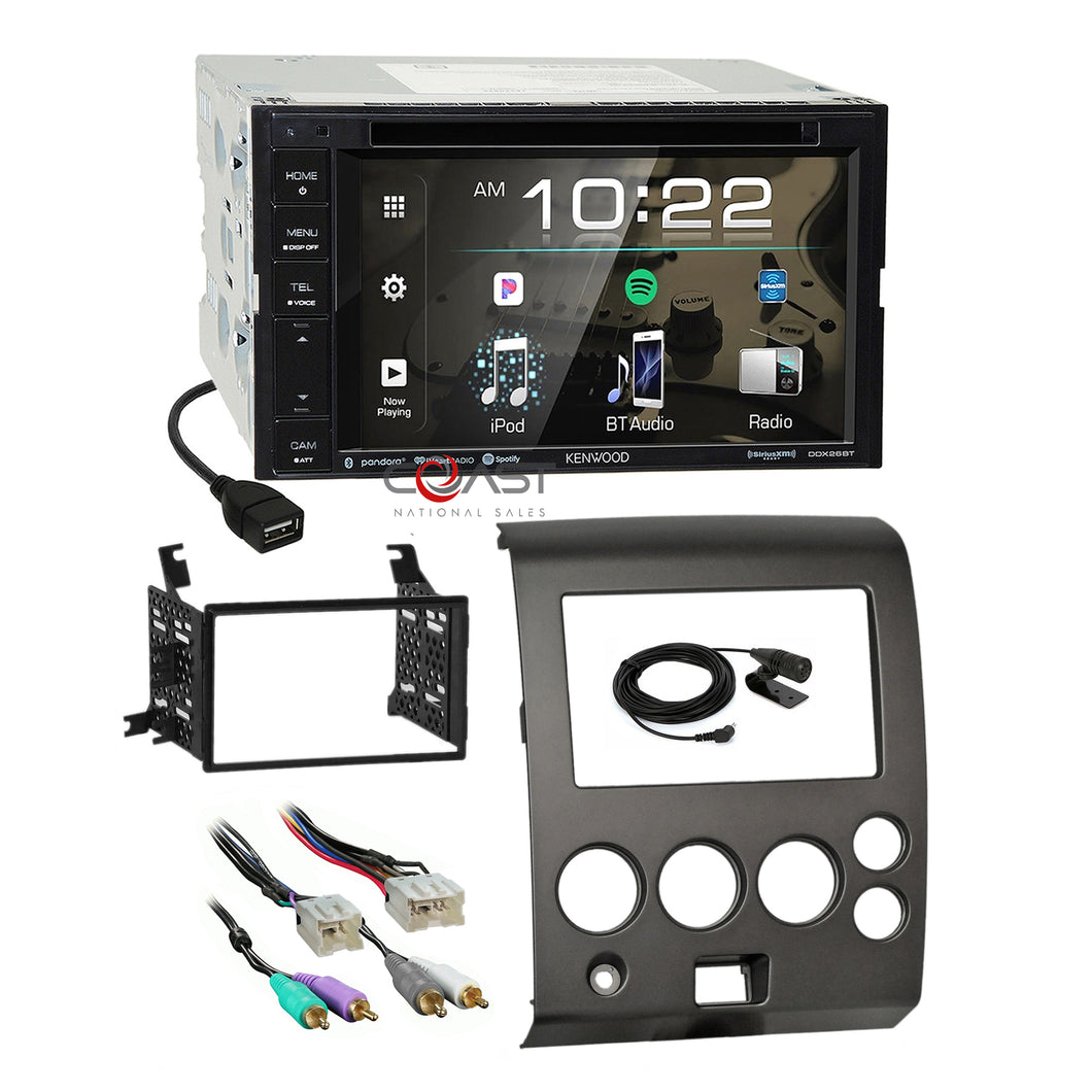 Kenwood 2018 DVD Bluetooth Stereo Dash Kit Amp Harness for Nissan Armada Titan
