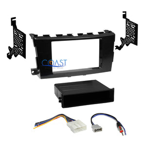 Car Radio Stereo Din 2Din Gloss Gray Dash Kit Harness for 2013-up Nissan Altima