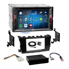 Load image into Gallery viewer, JVC DVD USB Bluetooth Stereo 2Din Gloss Gray Dash Kit Harness for Nissan Altima