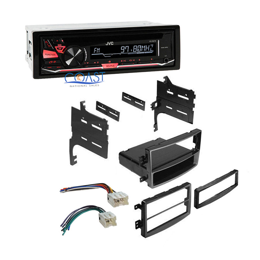JVC Car Radio Stereo Single Din Dash Kit Wire Harness for 2006-2008 Nissan 350Z