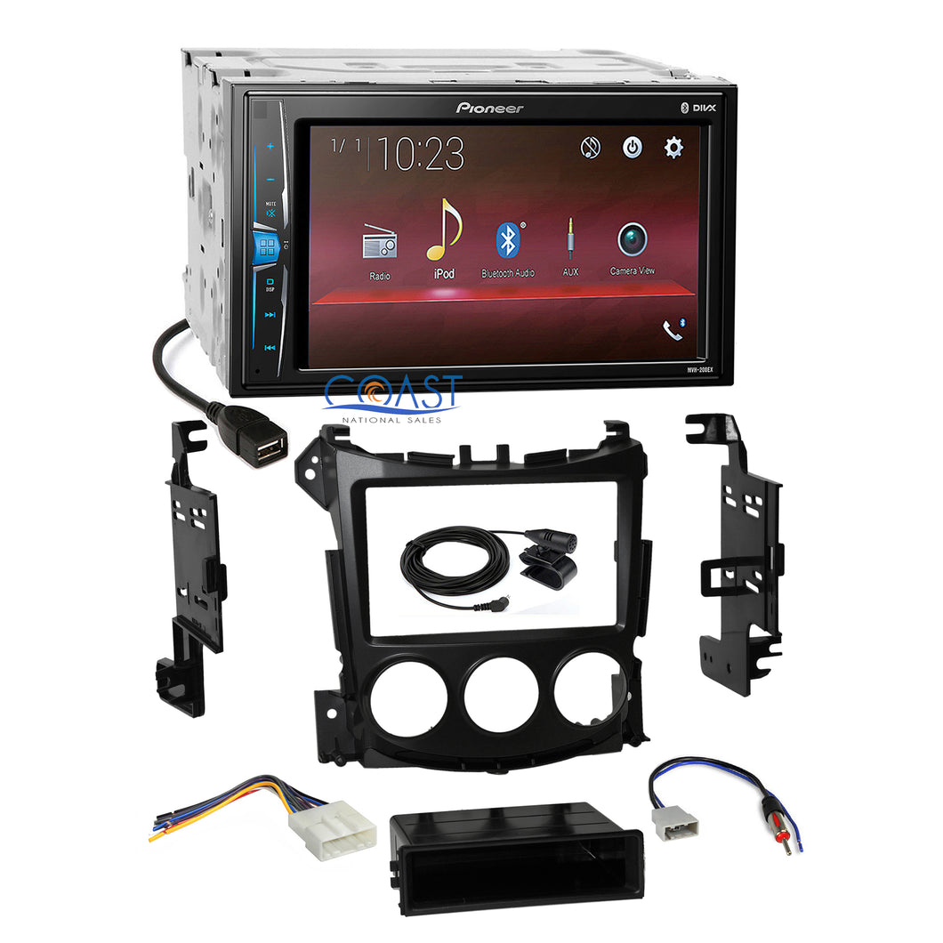 Pioneer 2018 USB Multimedia Stereo 2Din Dash Kit Harness for 09-UP Nissan 370Z