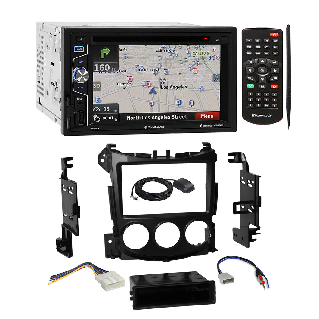 Planet Audio DVD GPS Bluetooth Stereo Dash Kit Harness for 2009-UP Nissan 370Z