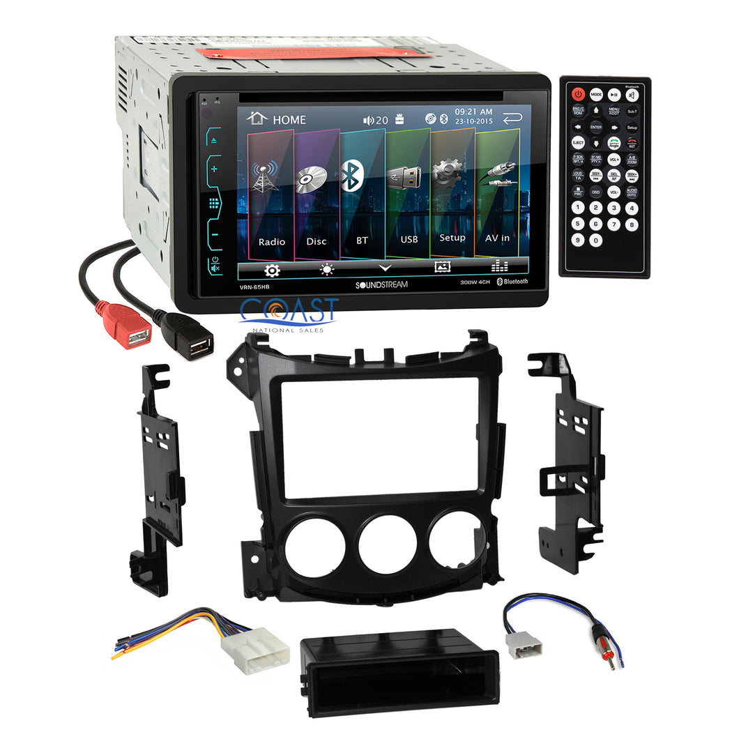 Soundstream Dual USB Bluetooth Stereo Dash Kit Harness for 2009-UP Nissan 370Z