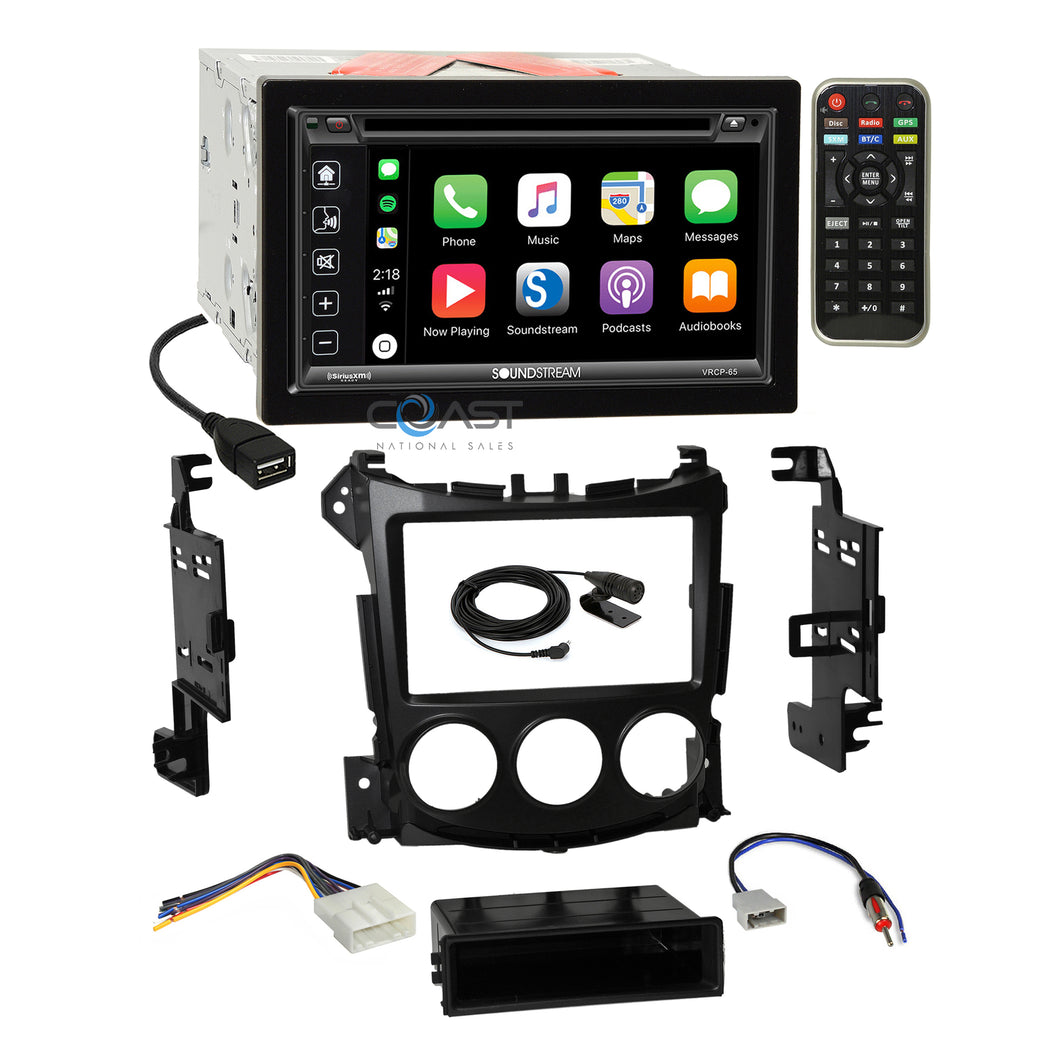 Soundstream DVD Sirius Carplay Stereo Dash Kit Harness for 2009-UP Nissan 370Z
