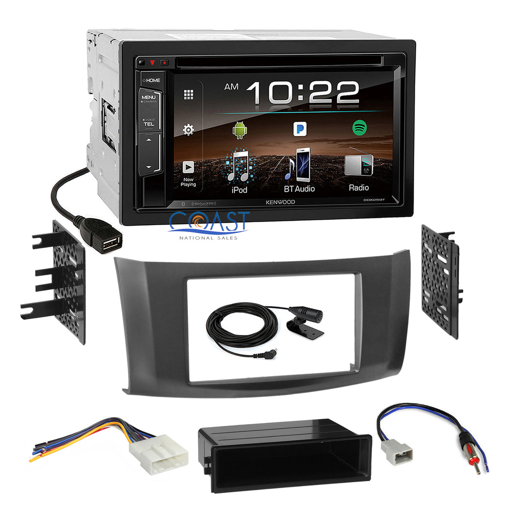 Kenwood Bluetooth Sirius Stereo Gray Dash Kit Harness for 2013-up Nissan Sentra