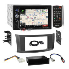 Load image into Gallery viewer, Planet Audio GPS Bluetooth Stereo Gray Dash Kit Harness for 2013+ Nissan Sentra