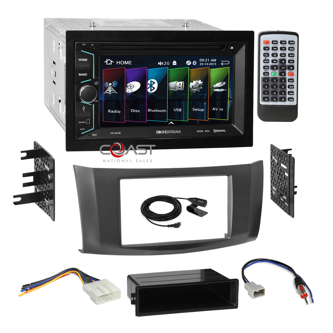 Soundstream 2018 DVD USB Stereo 2Din Gry Dash Kit Harness for 13+ Nissan Sentra