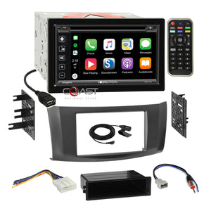 Soundstream DVD Carplay Stereo 2Din Gray Dash Kit Harness for 13+ Nissan Sentra