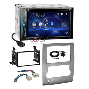 Pioneer 2018 DVD Bluetooth Stereo Sil Dash Kit Harness for 2008-13 Nissan Titan