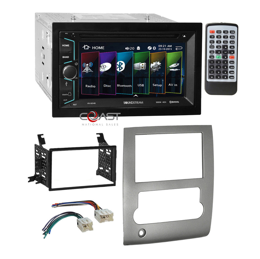 Soundstream 2018 DVD MP3 USB Stereo Sil Dash Kit Harness for 08-13 Nissan Titan