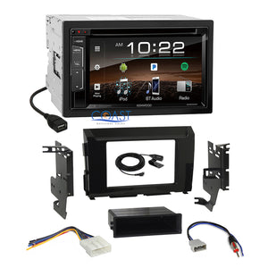 Kenwood 2018 DVD Bluetooth Stereo Gloss Dash Kit Harness for 16-17 Nissan Titan