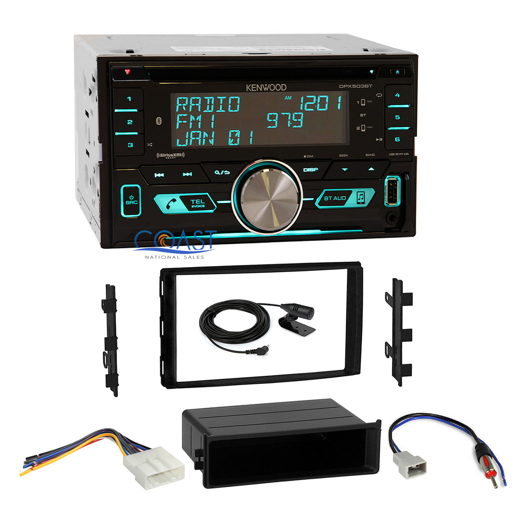 Kenwood USB Sirius Bluetooth Stereo Dash Kit Harness for Nissan Frontier Titan