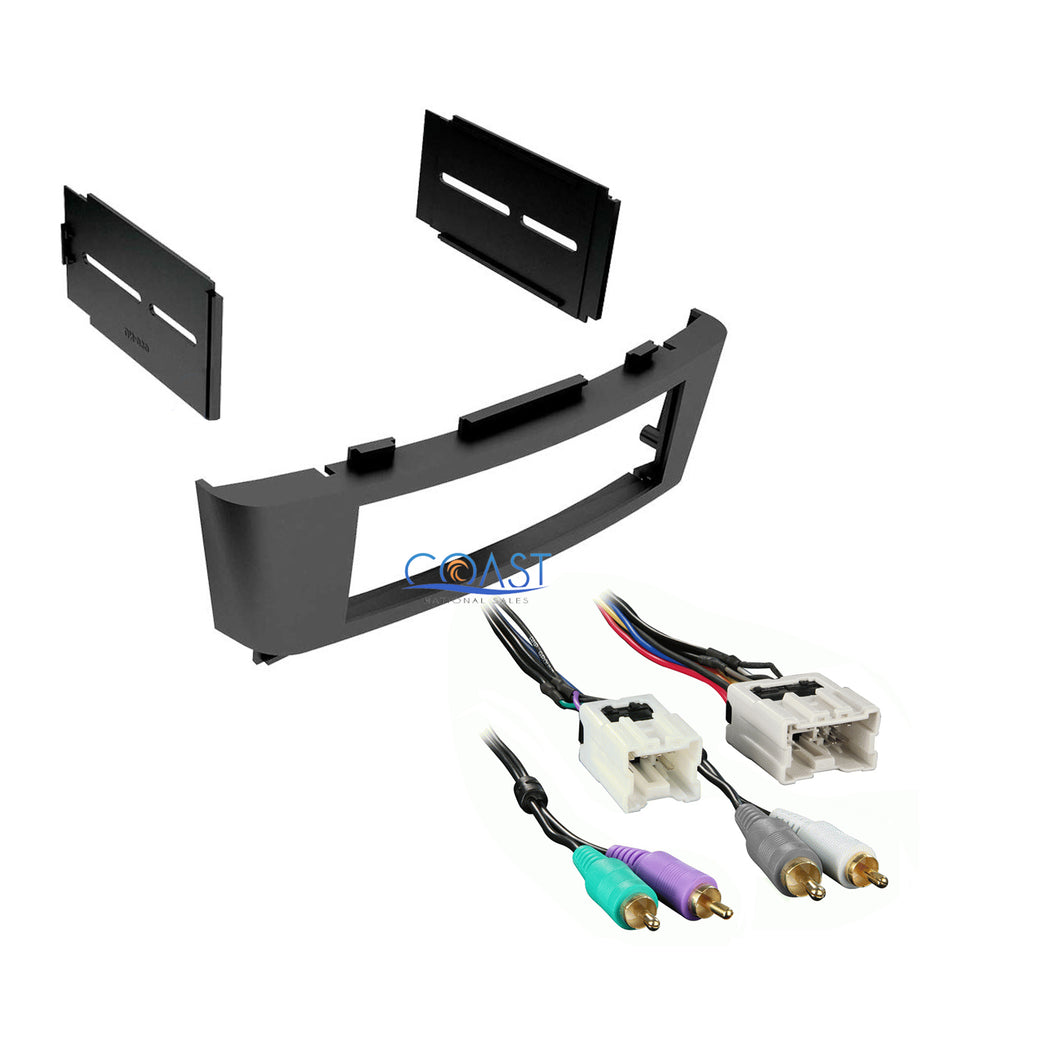 Single DIN Stereo Car Dash Kit w/ Amplifier Harness for 2002-2006 Nissan Sentra