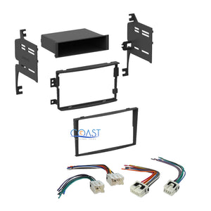 Car Single Double DIN Stereo Dash Kit + Harness Combo for 2006-2008 on
