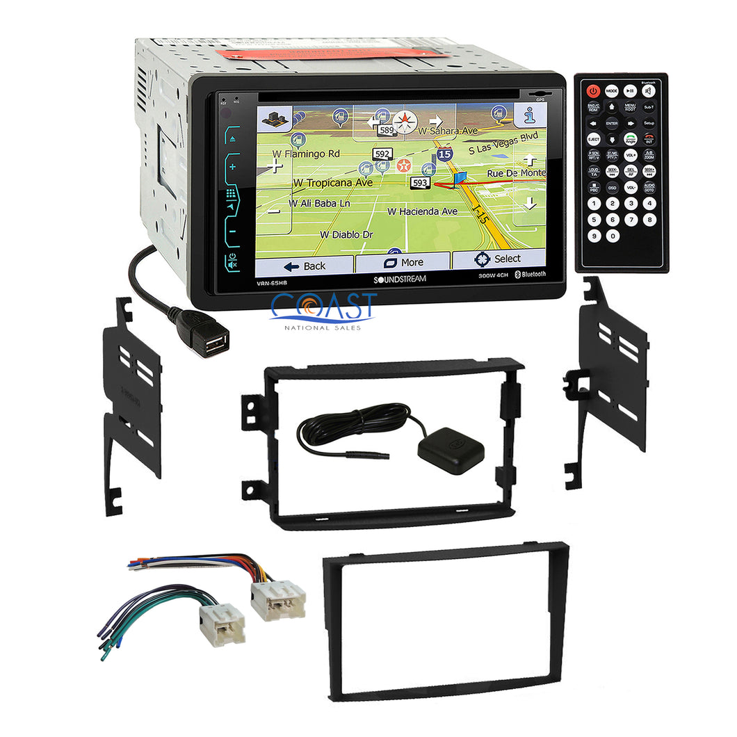 Soundstream DVD GPS Bluetooth Stereo Dash Kit Harness for 2006-08 Nissan 350Z