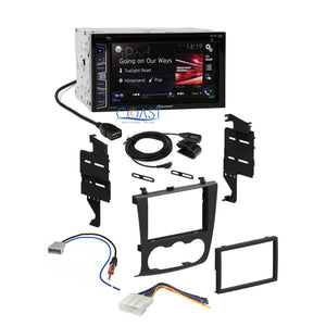 Pioneer 2016 Stereo Double DIN Dash Kit Harness Antenna for 07-11 Nissan Altima