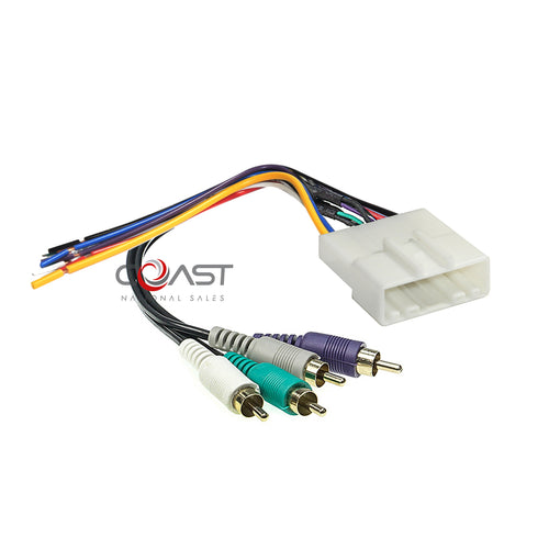 Amplifier Bose Intergration Harness with RCAs Plugs into Car Harness For Nissan