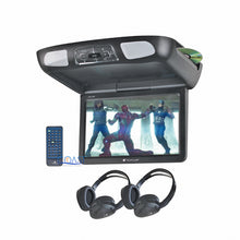 "Load image into Gallery viewer, Planet Audio Roof Overhead LCD Monitor 11.2"" Car Media DVD Player SD USB MP3"