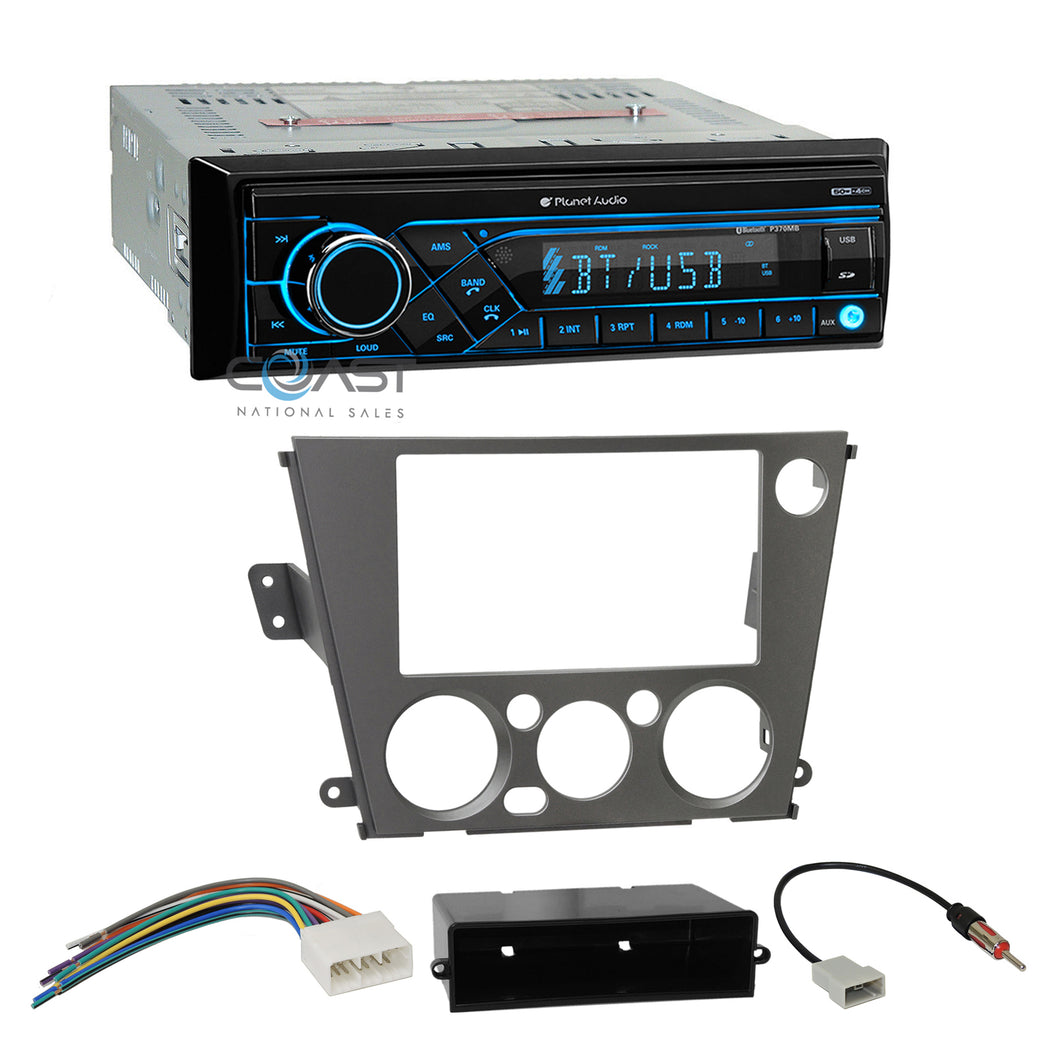 Planet Audio Stereo Bluetooth Dash Kit Harness For Subaru Legacy Outback 05-09