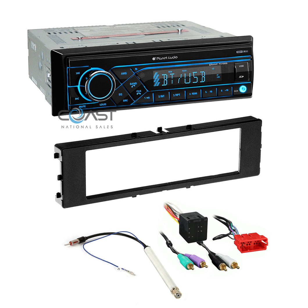 Planet Audio Radio Bluetooth 1 Din Dash Kit Harness For 1996-2006 Audi A4 A6 A8