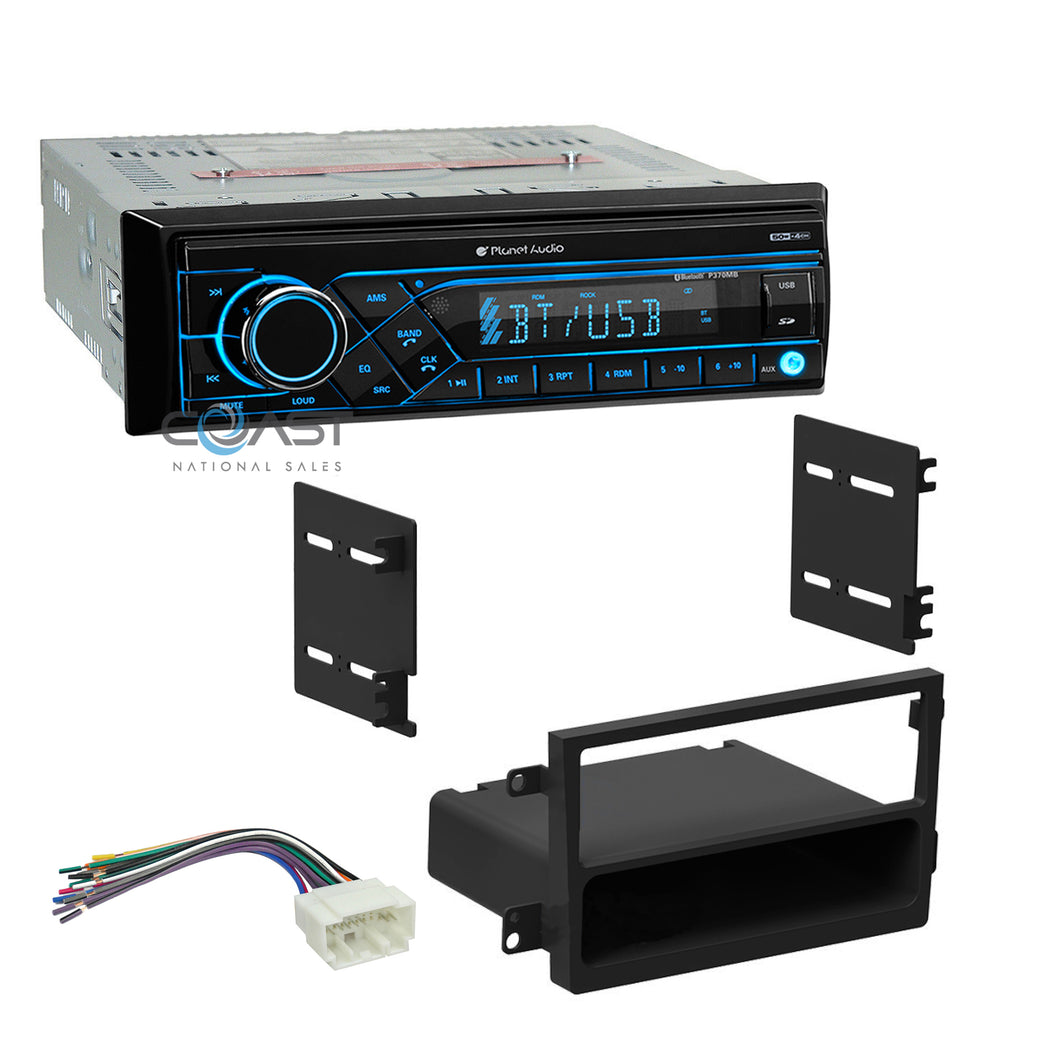 Planet Audio Radio Bluetooth 1 Din Dash Kit Harness For 2007-11 Honda Element