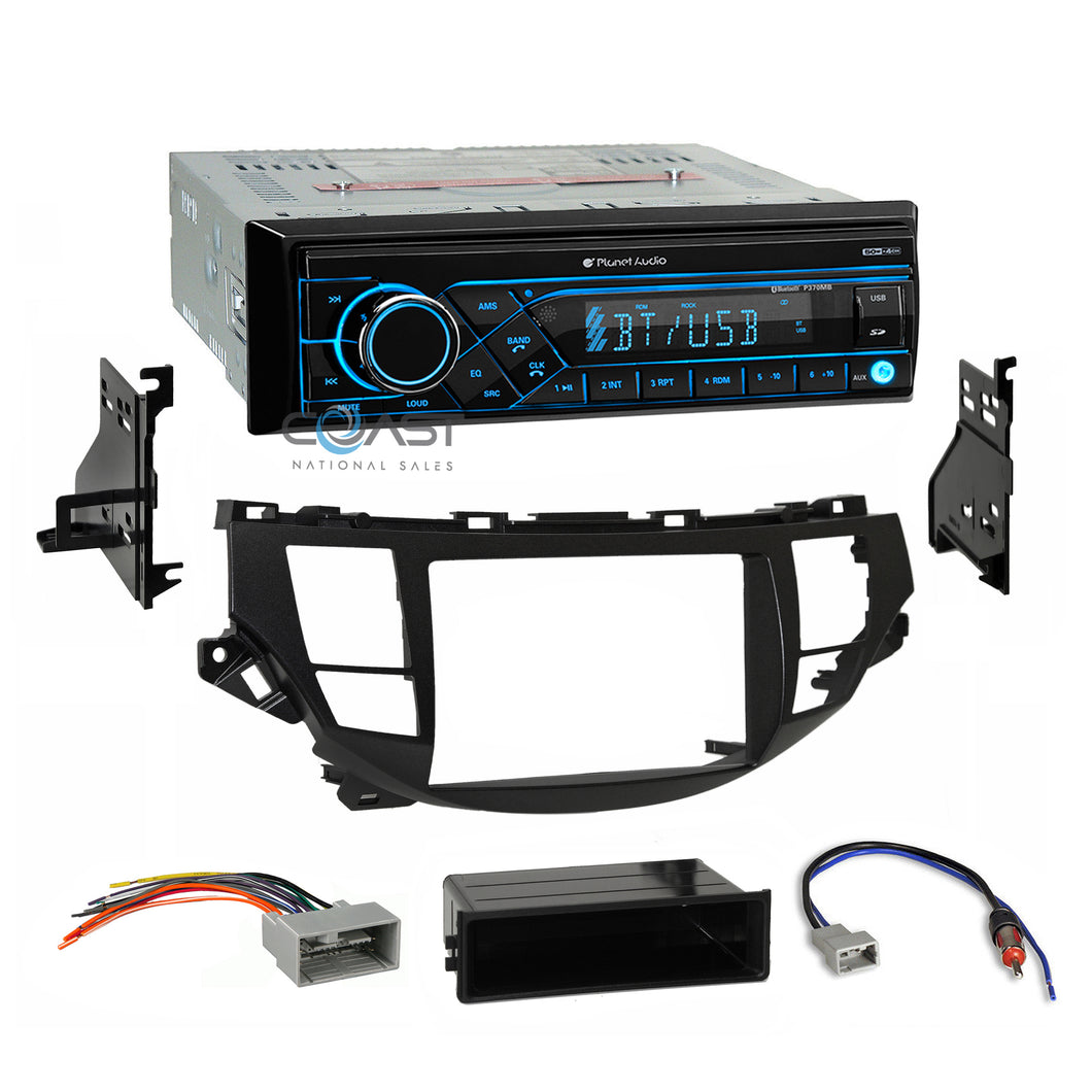 Planet Audio Stereo Bluetooth Dash Kit Harness For 08-12 Honda Accord Crosstour