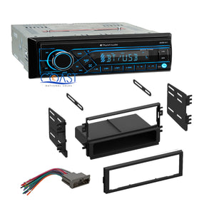 Planet Audio Car Radio Bluetooth Single Din Dash Kit Harness For 1998-03 Kia