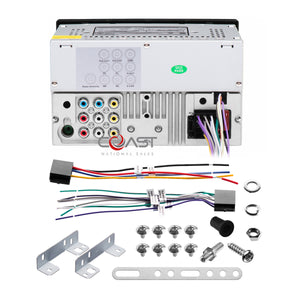 Planet Audio DVD MP3 Bluetooth Stereo Dash Kit Harness for 03-08 Toyota Corolla