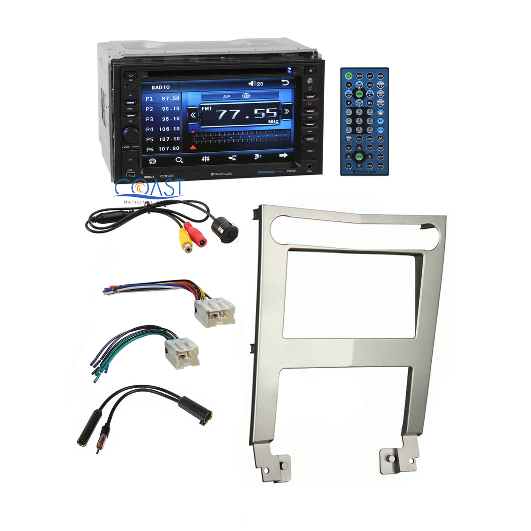 Planet Audio Car Stereo Double Din Dash Kit Harness for 2004-06 Nissan Maxima