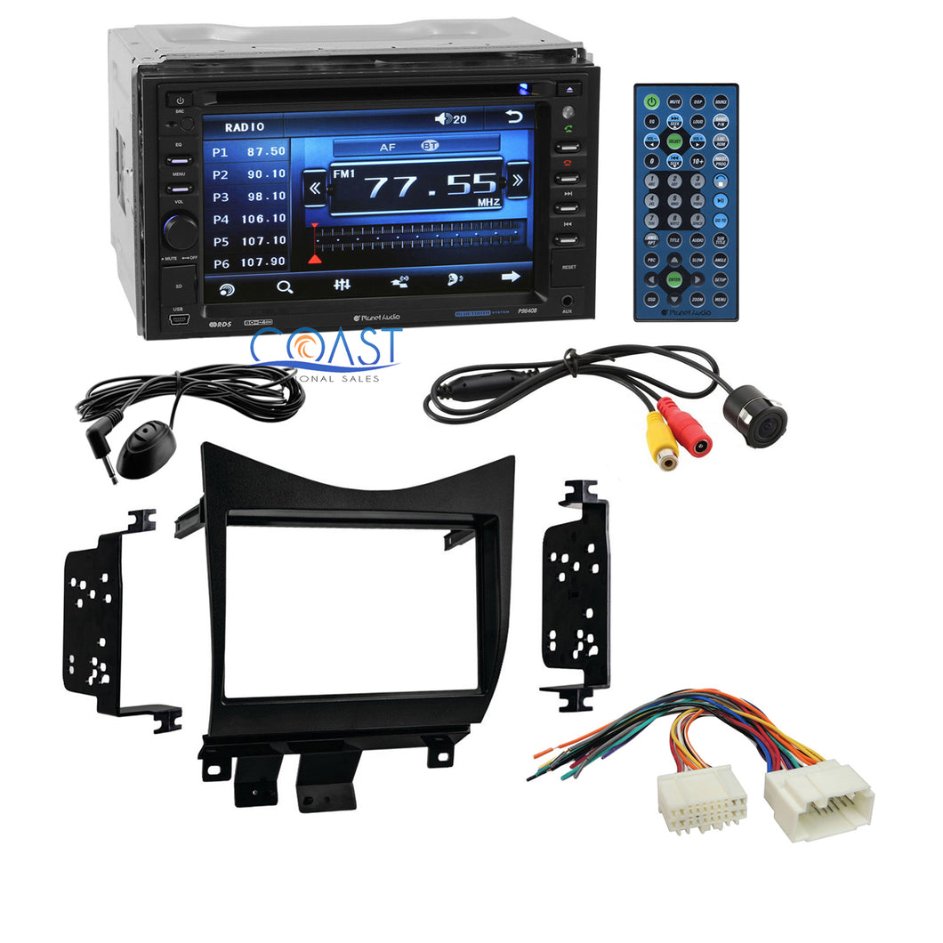 Planet Audio Car Stereo Double Din Dash Kit Harness for 2003-07 Honda Accord