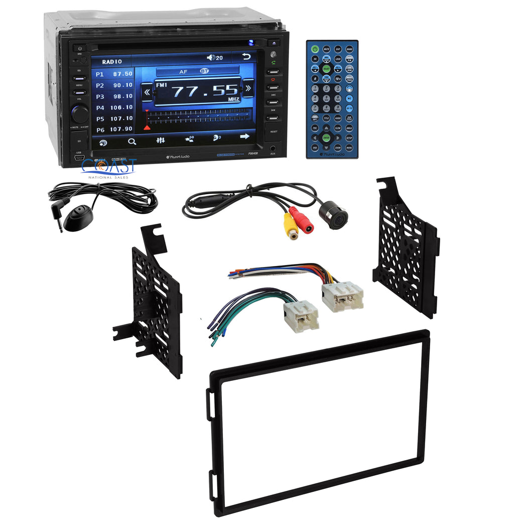 Planet Audio Car Stereo Double Din Dash Kit Harness for 04-12 Nissan Truck SUV
