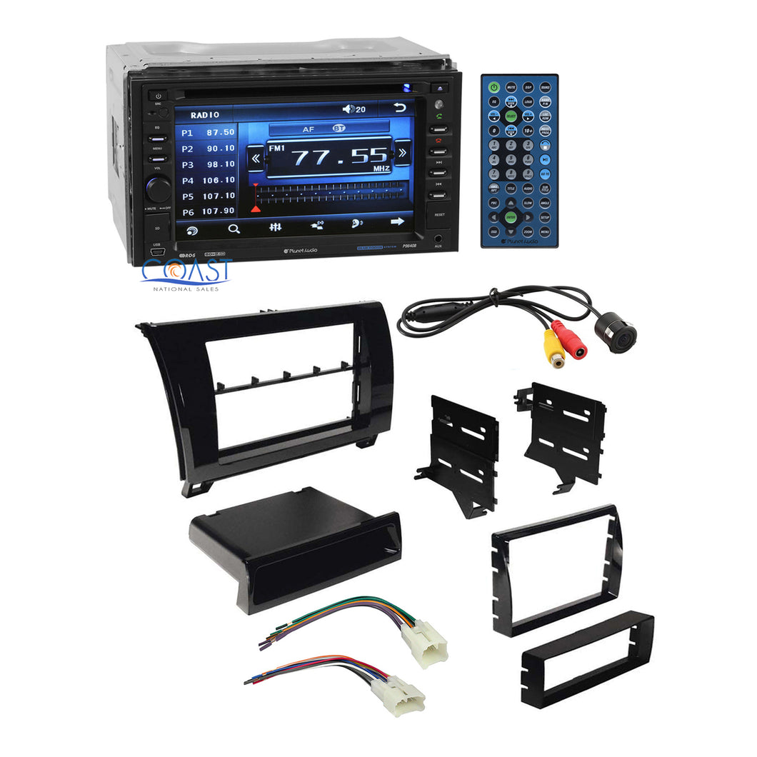 Planet Audio Car Stereo 2 Din Dash Kit Harness for 07-13 Toyota Tundra Sequoia