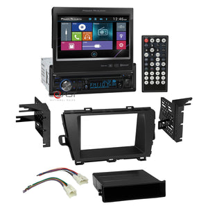 "Power Acoustik Bluetooth Radio 7"" LCD Dash Kit Harness for 2010-12 Toyota Prius"