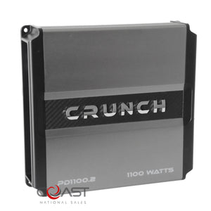 Crunch PD1100.2 1100W 2-Channel Power Drive Series Class AB Car Audio Amplifier
