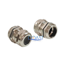 Load image into Gallery viewer, Durable Waterproof Nickel Plated Cable Connector Gland Dia. 3-6.5mm PG7 - 20 Pcs