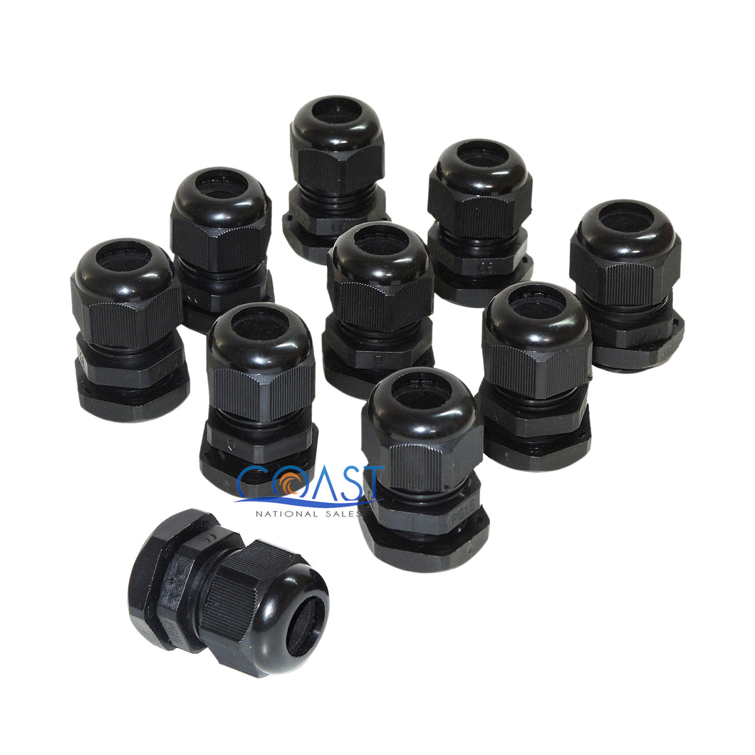10X Durable Pro Waterproof UV Resistant Black Nylon Connector Grommet 18-25mm Dia.