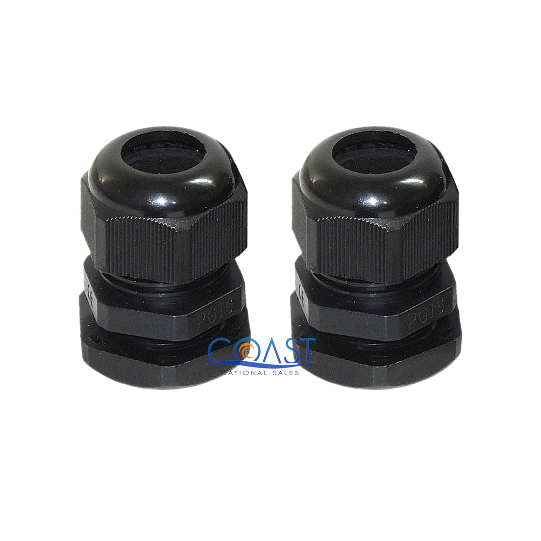2X Durable Waterproof UV Resistant Black Nylon Connector Grommet 18-25mm Dia.