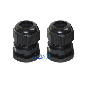 Durable Pro Waterproof UV Resistant Black Nylon Connector Grommet 12-15mm Dia.